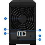 Synology DiskStation DS218play 2 x Total Bays SAN/NAS Storage System - Desktop - Realtek Quad-core 4 Core