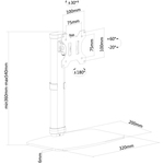 Neomounts by Newstar Neomounts Pro FPMA-D890BLACK Desk Mount for Flat Panel Display - Black