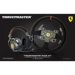 Thrustmaster Ferrari Alcantara Race Bundle - Multiplatform headset Andamp; racing wheel set