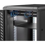 StarTech.com Black Standard Universal Server Rack Cabinet Shelf - 19
