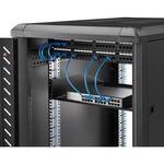 StarTech.com 2U Rack Mount Cantilever Shelf - Heavy Duty Fixed Server Rack Cabinet Shelf