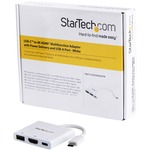 StarTech.com USB C Multiport Adapter with HDMI 4K Andamp; 1x USB 3.0 - PD - Mac Andamp; Windows - White USB Type C All in One Video Adapter - Expand the connectivity of your lap