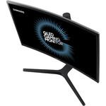 Samsung C24FG73FQU 23.5And#34; Full HD Curved Screen Quantum Dot LED LCD Monitor - 16:9 - Matte Dark Blue, Black