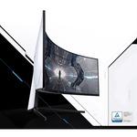 Samsung Odyssey G9 C49G93TSSU 49And#34; Dual Quad HD DQHD Curved Screen Quantum Dot LED Gaming LCD Monitor - 32:9 - Black, White
