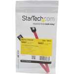 StarTech.com 12in Latching SATA Cable - 1 x Male SATA - 1 x Male SATA - Red