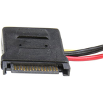 StarTech.com LP4 to SATA Power Cable Adapter with Floppy Power - Black