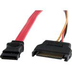 StarTech.com 12in Micro SATA to SATA with SATA Power Adapter Cable - 1 x Female Micro SATA - 1 x Female SATA