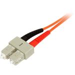 StarTech.com 3m Multimode 50/125 Duplex Fiber Patch Cable LC - SC - 2 x LC Male Network - Orange