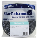 StarTech.com 25 ft Black Snagless Cat6 UTP Patch Cable - Category 6 - 25 ft - 1 x RJ-45 Male Network - 1 x RJ-45 Male Network - Black