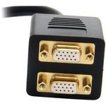 StarTech.com 1 ft DVI-I Analog to 2x VGA Video Splitter Cable - M/F - DVI-I Single-Link Male Video - Black