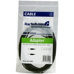 StarTech.com 15 ft Slim 3.5mm Stereo Audio Cable - M/M - Mini-phone Male Stereo Audio - 15ft - Black