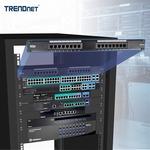 TRENDnet TC-P16C5E 16 Ports Network Patch Panel - 16 x RJ-45 - 16 x RJ-11