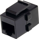 StarTech.com Cat 6 RJ45 Keystone Jack Network Coupler - F/F - 1 Pack - 1 x RJ-45 Female Network - Black
