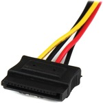 StarTech.com 12in LP4 to 2x Latching SATA Power Y Cable Splitter Adapter - 4 Pin Molex to Dual SATA