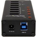 StarTech.com 4 Port USB 3.0 Hub plus 3 Dedicated USB Charging Ports 2 x 1A Andamp; 1 x 2A - Wall Mountable Metal Enclosure - 7 Total USB Ports - 4 USB 3.0 Ports