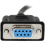 StarTech.com 2m Black DB9 RS232 Serial Null Modem Cable F/F - 1 x DB-9 Female Serial - 1 x DB-9 Female Serial