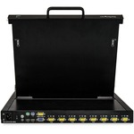 StarTech.com Rackmount KVM Console - 8 Port with 17-inch LCD Monitor - VGA KVM - Cables and Mounting Hardware Included - Connect up to 8 PCs or servers to this rack