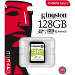 Kingston Canvas Select 128 GB SDXC - Class 10/UHS-I U1 - 80 MB/s Read - 10 MB/s Write