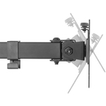 Neomounts by Newstar Neomounts Pro FPMA-D550DBLACK Desk Mount for Flat Panel Display - Black -