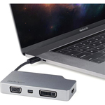 StarTech.com USB-C Multiport Video Adapter - 4-in-1 Travel A/V Adapter - USB Type-C to VGA DVI HDMI or mDP Adapter - 4K 60Hz - CDPVDHDMDP2G - USB-C all in one adapte