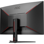 AOC CQ32G1 31.5And#34; WQHD Curved Screen 144Hz LED Gaming LCD Monitor - 16:9 - Black, Red
