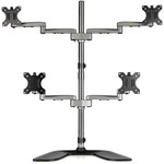 StarTech.com Quad-Monitor Stand - For up to 32And#34; VESA Mount Monitors - Articulating - Steel Andamp; Aluminum Four Monitor Mount ARMQUADSS - Up to 81.3 cm 32And#34; Screen Sup