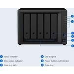 Synology DiskStation DS1520plus 5 x Total Bays SAN/NAS Storage System - Intel Celeron Quad-core 4 Core 2.70 GHz - 8 GB RAM - DDR4 SDRAM Desktop - Serial ATA Controlle