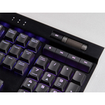 Corsair K70 Gaming Keyboard - Cable Connectivity - USB 2.0 Type A Interface - English UK - Black - Mechanical Keyswitch - 105 Key - PC, Windows