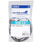 StarTech.com 3ft USB Y Cable for External Hard Drive - Type B Male USB - Type A Male USB - 0.91m - Black