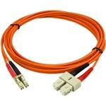 StarTech.com 2m Multimode 50/125 Duplex Fiber Patch Cable LC - SC - 2x LC Male Network - 2x SC Male Network