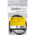 StarTech.com 3 ft Black USB 2.0 Extension Cable A to A - M/F - Type A Male USB