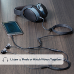 StarTech.com Slim Stereo Splitter Cable - 3.5mm Male to 2x 3.5mm Female - 1 x Mini-phone Male Stereo Audio