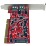 StarTech.com 2 Port PCI SuperSpeed USB 3.0 Adapter Card with SATA Power - 2 Total USB Ports