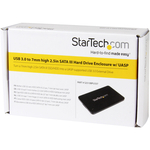 StarTech.com 2.5in USB 3.0 SATA Hard Drive Enclosure w/ UASP for Slim 7mm SATA III SSD/HDD