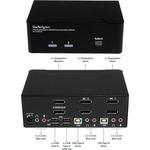 StarTech.com 2 Port DisplayPort Dual-Monitor KVM Switch - DisplayPort KVM - 4K 60 Hz