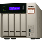 QNAP TVS-473e 4 x Total Bays SAN/NAS Storage System - 512 MB Flash Memory Capacity - AMD R-Series Quad-core 4 Core 2.10 GHz - 4 GB RAM - DDR4 SDRAM Tower - Serial