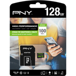 PNY High Performance 128 GB microSDXC - Class 10/UHS-I U1 - 100 MB/s Read - 20 MB/s Write