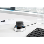 3Dconnexion SpaceMouse Compact  - Cable - 2 Buttons - Black, Silver - USB 1.1 - Symmetrical