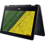Acer Chromebook Spin 11 R751TN-C1Y9 29.5 cm 11.6And#34; Touchscreen 2 in 1 Chromebook - 1366 x 768 - Celeron N3350 - 4 GB RAM - 32 GB Flash Memory - Obsidian Black