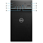 Dell Precision 3000 3630 Workstation - Core i7 i7-8700 - 16 GB RAM - 1 TB HDD - 512 GB SSD - Tower - Black - Windows 10 Pro 64-bitIntel HD Graphics 630 - DVD-Writer