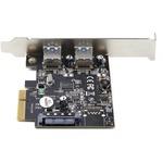StarTech.com 2-Port USB PCIe Card 10Gbps/port - USB 3.1/3.2 Gen 2 Type-A PCI Express 3.0 x2 Host Controller Expansion Card -