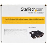 StarTech.com 1 Port Professional USB to Serial Adapter Cable with COM Retention - Type A Female USB