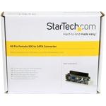 StarTech.com 40 Pin Female IDE to SATA Adapter Converter - 1 x IDC Female