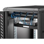 StarTech.com 22in Black Deep Sliding Server Rack Cabinet Shelf - 25 kg x Maximum Weight Capacity