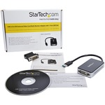 StarTech.com USB 3.0 to DVI External Video Card Multi Monitor Adapter with 1-Port USB Hub - 1920x1200 - 1920 x 1200 - 1 x Total Number of DVI - PC - 1 x Monitors Sup