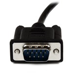 StarTech.com 1m Black DB9 RS232 Serial Null Modem Cable F/M - 1 x DB-9 Male and 1 Female Serial