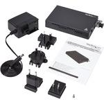 StarTech.com OAM Managed Gigabit Ethernet Fiber Media Converter - Multi Mode LC 550m
