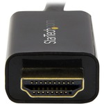 StarTech.com Mini DisplayPort to HDMI converter cable - 6 ft 2m - 4K - Black