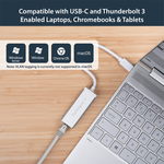 StarTech.com USB-C to Gigabit Network Adapter  - Silver - USB 3.1 - 1 Ports - Twisted Pair