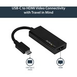StarTech.com USB C to HDMI Adapter - 4K 60Hz - Thunderbolt 3 Compatible - USB-C Adapter - USB Type C to HDMI Dongle Converter CDP2HD4K60 - Connect your MacBook, Ch